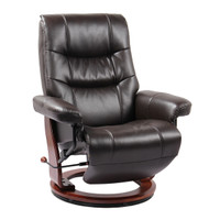 Dean Bonded Leather Recliner Java