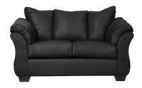 Madison Fabric Loveseat Black