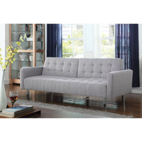 Clayton Fabric Sofa bed Light Grey