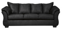 Madison Fabric Sofa Black