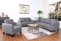 Juno Fabric Loveseat Grey