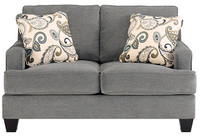 Scala Fabric Loveseat Steel