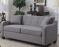 Mason Fabric Double Memory Foam Sofa Bed Grey