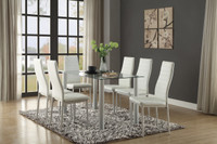 Milan 7pc Dining Set White