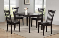 Delfini 5pc Butterfly Leaf Dining Set Espresso
