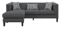 Adora Fabric Reversible Sectional Grey
