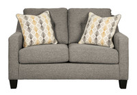 Lyndon Fabric Loveseat Grey
