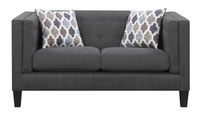 Adora Fabric Loveseat Grey