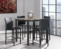Oslo 5pc Counter Height Dining Set