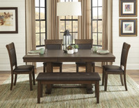 Sybil 6pc Dining Set with Bench