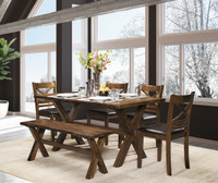 Raven 6pc Dining Set with Bench