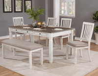 Melva 6pc Dining Set with Bench