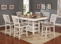 Melva 7pc Storage Counterheight Dining Set