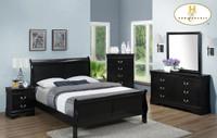 Ella Queen Bed Frame Black