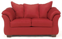 Madison Fabric Loveseat Red