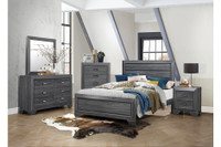 Kai King Bed Frame Grey