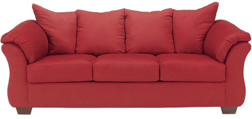 Madison Fabric Sofa Red