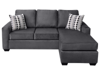 Nordel Fabric Reversible Queen Sectional Sofa Bed Pebble