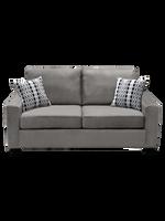 Nordel Fabric Condo Sofa Silver