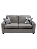 Nordel Fabric Loveseat Silver
