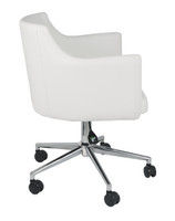 Baraga Swivel Chair White
