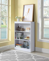 Nate Short Bookshelf White