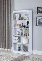 Nate Medium Bookshelf White