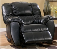 Carlton Bonded Leather Rocker Recliner Brown