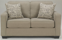 Perez Fabric Loveseat Beige