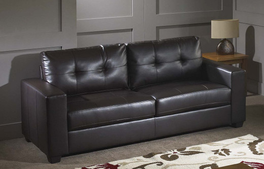 Lacey Black 100% Bonded Leather Sofa