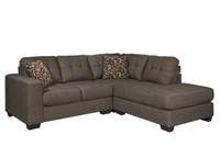 Matiz RHF Chaise Grey Fabric Sectional
