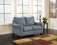 Orbit Fabric Twin Sofa Bed (Blue)