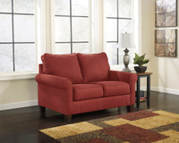 Orbit Fabric Twin Sofa Bed (Red)