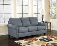 Orbit Fabric Double Sofa Bed (Blue)