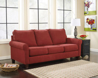 Orbit Fabric Double Sofa Bed (Red)