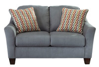 Aldo Loveseat Blue