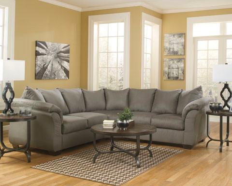Madison Fabric Corner Sofa Sage