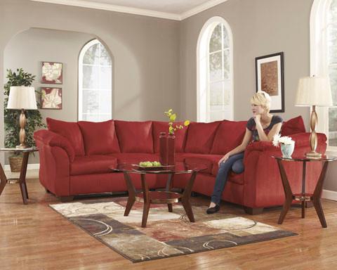Madison Fabric Corner Sofa Red