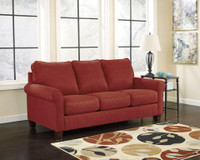 Orbit Fabric Queen Sofa Bed (Red)