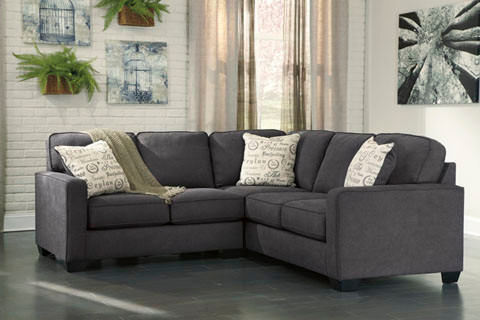 Perez Fabric Corner Sofa Charcoal