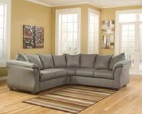 Madison Fabric Corner Sofa Grey