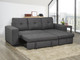 Aspen Fabric Reversible Double Sofa Bed with Storage Grey