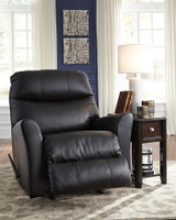 Earl Genuine Leather Rocker Recliner Black