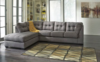 Carlos Fabric Left Facing Sectional Grey