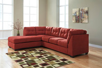 Carlos Fabric Left Facing Sectional Red
