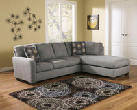 Dawn Fabric Right Facing Sectional Grey