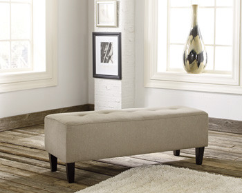 Apollo Fabric Ottoman Beige