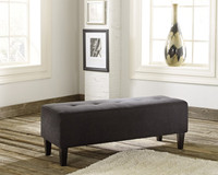 Apollo Fabric Ottoman Charcoal