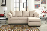 Madison Fabric Reversible Sectional Stone