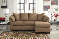 Madison Fabric Reversible Sectional Mocha